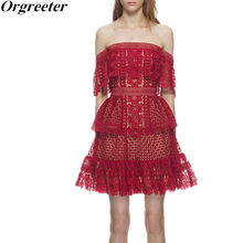 637926878a203 Popular Red Lace Self Portrait Dress-Buy Cheap Red Lace Self ...