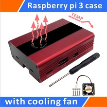 Best price Raspberry Pi 3,Pi 2, B+ Aluminum Case With Fan(Red)