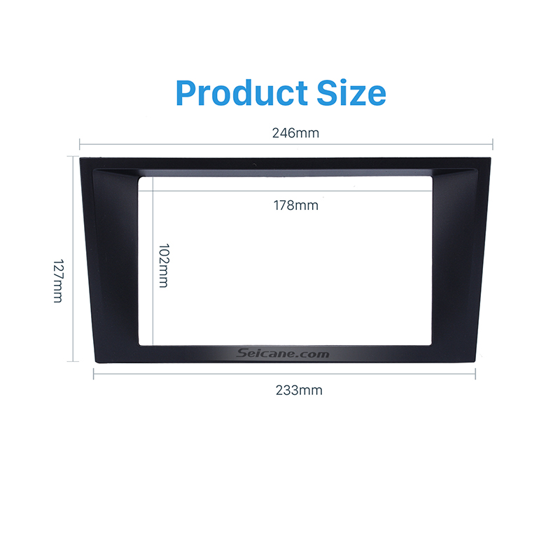 SeicaneHigh Quality Double Din Car Stereo Fascia Adaptor Dash Kit Trim Bezel for 2006 Ford Mondeo Audio Frame Panel Fitting Kit