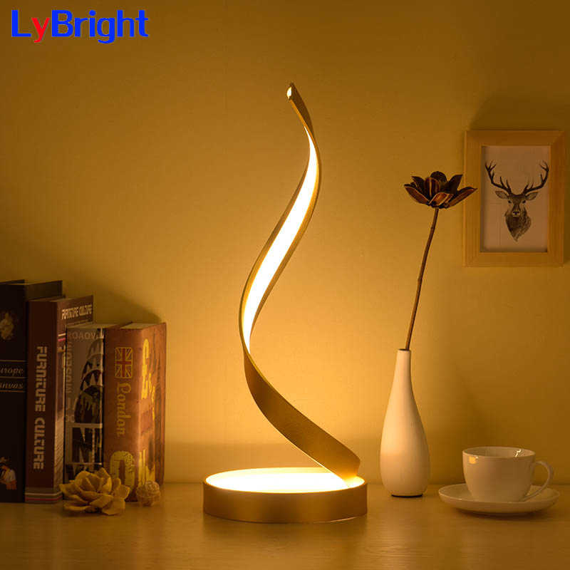 Modern Creative Eye Protect Table Light AC 90-260V Romantic Warmable Table Lamp For Living Room Bedside Bedroom Home Decor