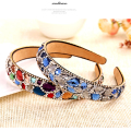 Free Shipping 2016 New Korean Hair Accessories Luxury Colorful Crystal Hairbands Rhinestone Headbands For Women Hair Jewelry