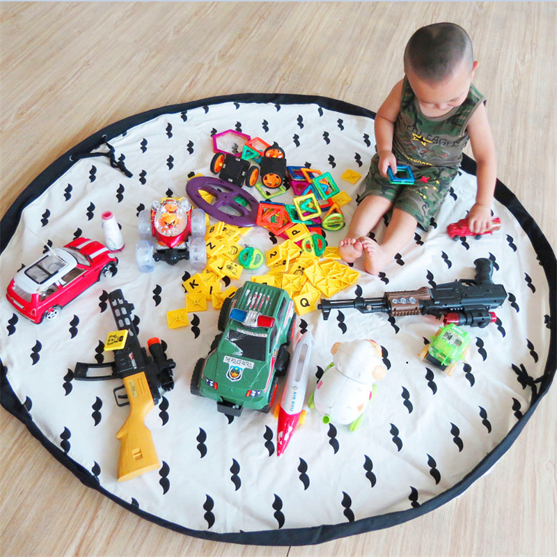 Multi-Func Tragbare Babyspielmatte Kinder Spielzeug Aufbewahrungstasche Picknickdecke Organizer box gedruckt Praktische Aufbewahrungsbeutel