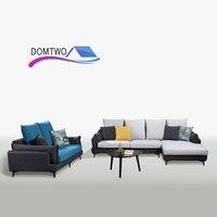 Мебель гостиная ткань вниз индивидуальный двойной диван