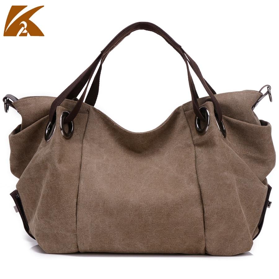 Canvas Handbag Large Hobos Bag Sell Bolsa Retro Trapeze Ruched Solid Shoulder Bag
