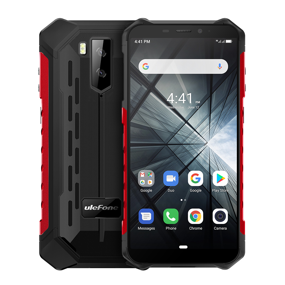 Ulefone Armor X3 Ip68 Rugged Smartphone Android 9.0 Shockproof Telephone Superbattery Cell Phone 2+32G Unlocked Mobile Phone