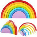2016 Nueva Llegada Del Bebé Juguetes Rainbow Bloques de Montaje 25*3*13 CM 7 Unids Creativo Rainbow Bloques Niño juguetes educativos Regalo de Cumpleaños