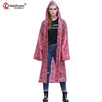 Rainfreem 2017 Spring Lace Raincoat Women Men Rain Coat Light Weight Rainwear Impermeable Plastic Transparent Rain