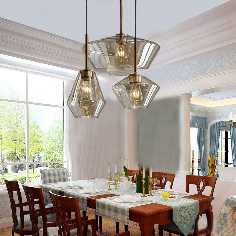 все цены на LukLoy Post Modern Living Room Cafe LED Pendant Light Tea Dining Room Bedside Glass Pendant Lamp Bar Hall Glass Hanging Lighting