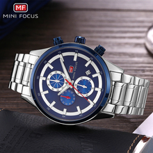 MINI FOCUS Luxury Brand Men Watches Stainless Steel Sports Watch Waterproof Analog Quartz Wristwatch Mens Relogio Masculino