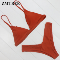 ZMTREE High Leg Bikini Set 2017 Hot Swimwear Women Triangle Bikini Swimsuit Beach Bathing Suit Brazilian