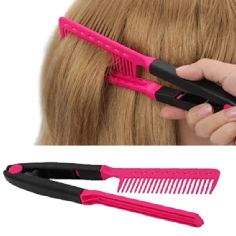 Hair Straightener Comb Hair Styling Tool V type Hairbrush ...