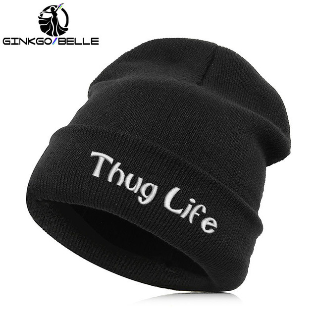 bedcb79abcd Beanie Hat Skullie Cap Slouchy Winter Embroidery Cool Punk Men Women Teen  Street Dance Funny Personalized - THUG LIFE