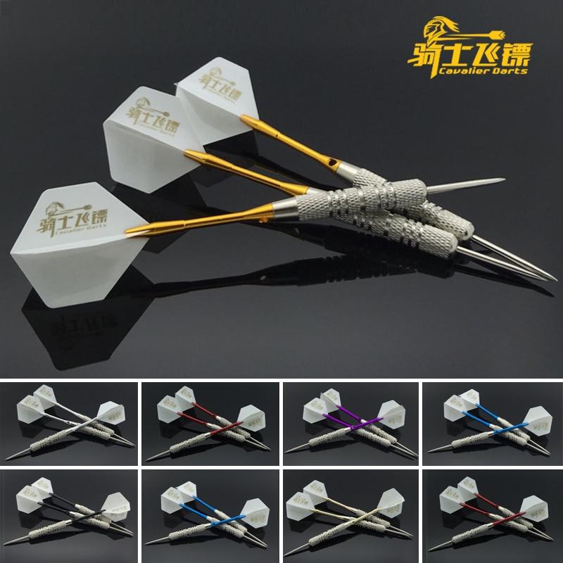 Cavalier Free Shipping Professional Darts Steel Tip Set 17 Grams Black Blue Purple Gold Red Aluminum Shaft Needle Darts 3pcs