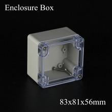 83x81x56 мм diy коробка электронный корпус пластиковый корпус ручной пластиковая коробка распределительная коробка с прозрачной Ясно 83*81*56 мм