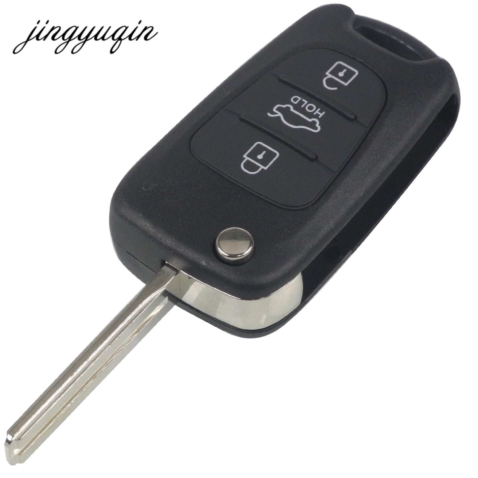 jingyuqin 20pcs lot 3 Buttons Flip Remote Key Shell for Hyundai IX35 For Kia Folding Key