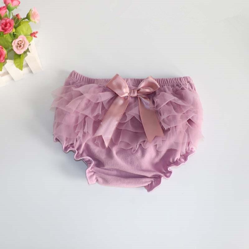 Baby Bloomers Princess Summer Girls pantalones cortos Ruffle Mesh Bow - Ropa de ninos - foto 2