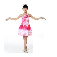 Tango da sala da balloGirls' fashion show Sequins skirt  ballroom dresses china ballroom dancewear  trajes de flamenca