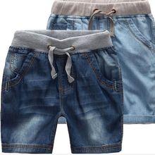Новые Классические летние джинсовые шорты для мальчиков модные джинсы шорты для больших мальчиков От 1 до 12 лет Детские пляжные шорты в повседневном стиле шорты для мальчиков
