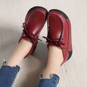 Image 5 - JZZDDOWN أحذية النساء جلد طبيعي مع الفراء أحذية امرأة منصة كعب عالية 5 سنتيمتر أحذية رياضية النساء منصة المتسكعون السيدات الأحذية