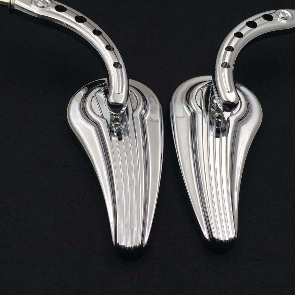 Afetermarket free shipping motorcycle mirror Motorcycle Chrome Raindrop Side Mirrors For 1984 and up Harley Davidson Touring Str scooter parts 8pcs chrome speedometer gauges bezels and horn cover case for harley davidson touring free shipping
