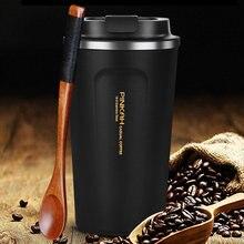 Tasse à café Thermo en acier inoxydable 380, 500 et 304 ml, tasse de voyage avec couvercle, bouteille d'eau sous vide, cadeau, offre spéciale