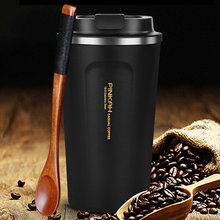 Hot Sale 380 & 500ml 304 Stainless Steel Thermo Cup Travel Coffee Mug with Lid Car Water Bottle Vacuum Flasks Thermocup for Gift(China)