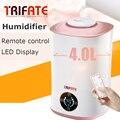 Pantalla Táctil y Control Remoto LED humidificador Ultrasónico Fresco con Filtro de Tiempo de Control de Humedad de La Niebla de la Escasez de Agua