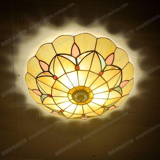 Ongebruikt Eenvoudige Europese antieke plafondlamp Tiffany glas lampen PR-42