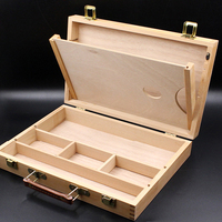 Oil Paint Suitcase Artist Wooden Table Box Easel Painting Box Portable Desktop Sketch Painting Hardware Art Supplies Gift Kids