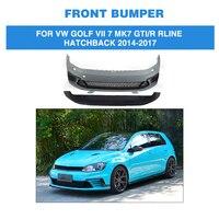 PU Unpainted Auto Car Front Bumper Body kit for Volkswagen VW GOLF VII 7 MK7 GTI / R Rline Hatchback 2014 2017