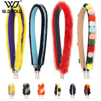 WDPOLO New Fur Design Women Handbags Strap New Trendy Rainbow Strap For Bags Chic Shoulder Strap