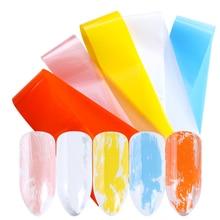 5 unids/set de láminas para uñas mezcladas blancas/rosadas, diseños coloridos, pegatinas de transferencia de manicura, decoraciones, envolturas de esmalte, papel para manicura TR993