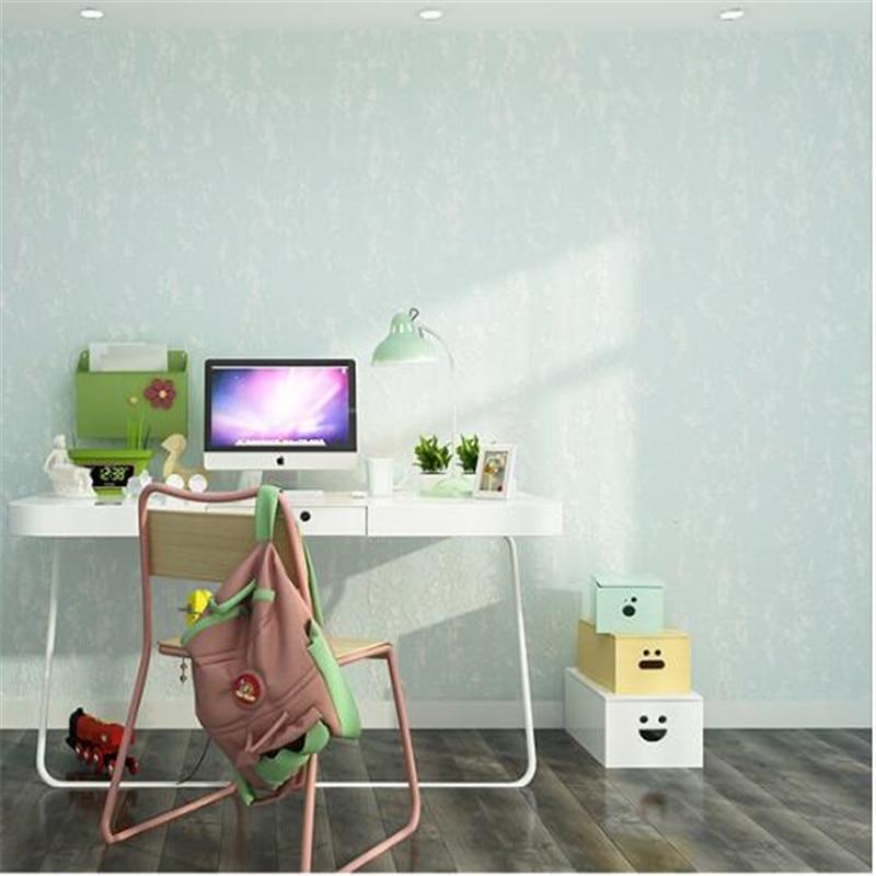 beibehang  Wallpaper bedroom living room study restaurant warm and full of modern simple plain color plain non-woven wallpaper