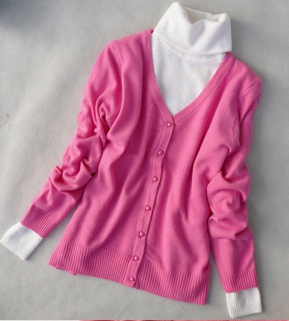 Long-sleeved cardigan sweater 2010 autumn new han v-neck sweater autumn outfit special dress blouse