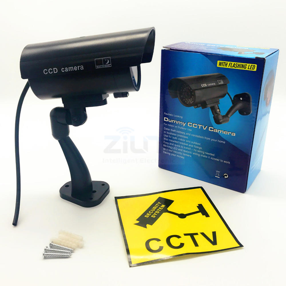 Dummy Fake Bullet Camera Outdoor Indoor Security Cctv Surveillance Wiring Video Cameras D44