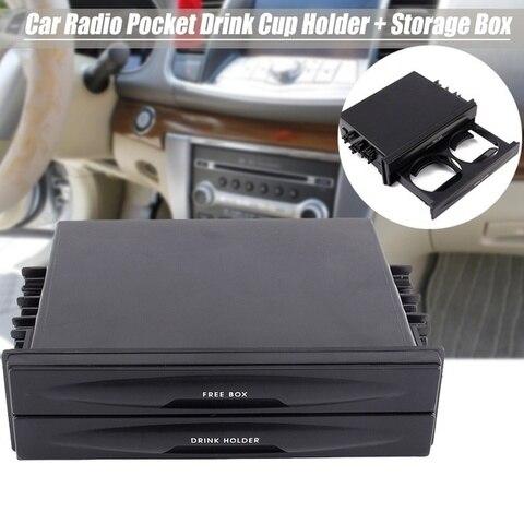 radio multifuncional para carros 2 em 1 universal organizador multifuncional para automoveis caixa de armazenamento