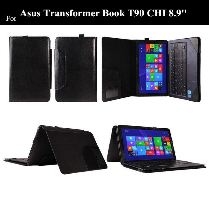 T300 CHI For ASUS Transformer Book Chi T300CHI Keyboard Leather Case With Card Slot