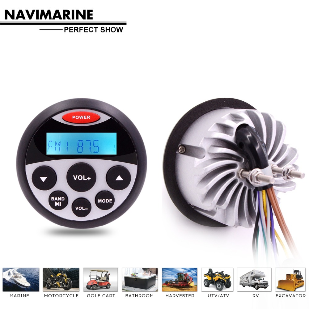 Image 5 - Waterproof Marine Radio Stereo Bluetooth Audio Car MP3 Player Auto Media FM AM Receiver for Motorcycle Yacht Boat Golf UTV ATV-in Car MP3 Players from Automobiles & Motorcycles