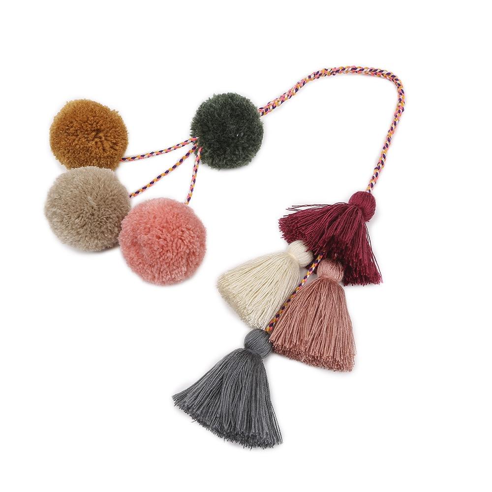 Bohemian Fashion Tassel Keychain Charm Handmade Cotton Tassel Pendant Europe And America Bag Hanging Accessories DropShipping