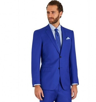 Custom Made Groomsmen Notch Lapel Groom Tuxedos Side Vent Mens Suits Wedding Best Man (Jacket+Pants+Tie+Hankerchief) B731
