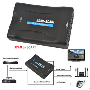 Image 5 - Kebidu 1080P SCART to HDMI Converter Video Audio Adapter Upscale AV Signal Adapter HD Receiver TV DVD HDMI to SCART + USB Cable