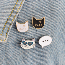 Set Cool Cat Pins for Collar Jacket