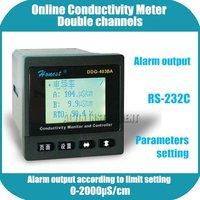 Интеллигентая (ый) Промышленные Онлайн Измеритель проводимости монитор контроллер анализатор Двойные каналы 4 ~ 20mA и пороговая сигнализаци