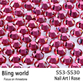 SS3-SS30 Rose Nail Art Rhinestones With Round Flatback For Nails Art Cell Phone And Wedding Decorations