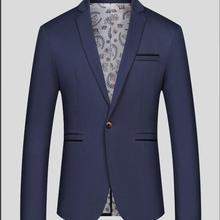 Модный Мужской Блейзер, повседневные Костюмы, приталенный пиджак, мужской Весенний костюм, Homme, Terno Masculin, Блейзер, куртка