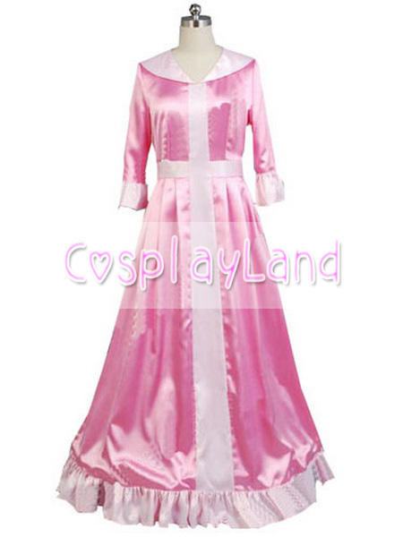 Belle Pink Dress Winter Costume Beauty And The Beast Princess Cosplay Party Custom Made Halloween In Movie TV Costumes From