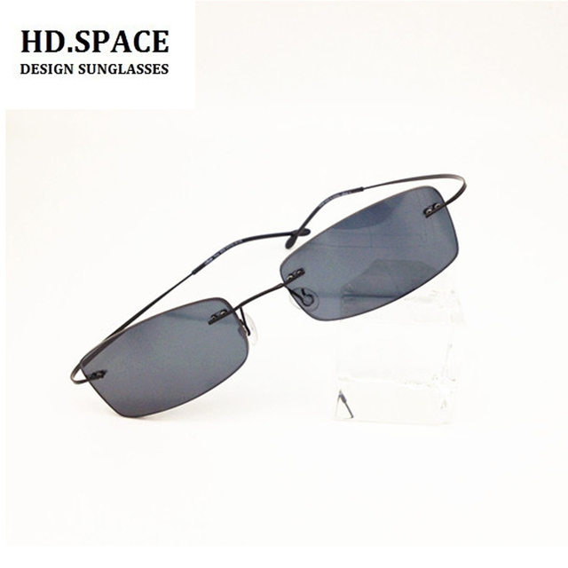 ea3f178ee70b4 New fashion finished rimless reading glasses ultra-light frameless reading  sun glasses gray lenses power from +1.00 to +6.00