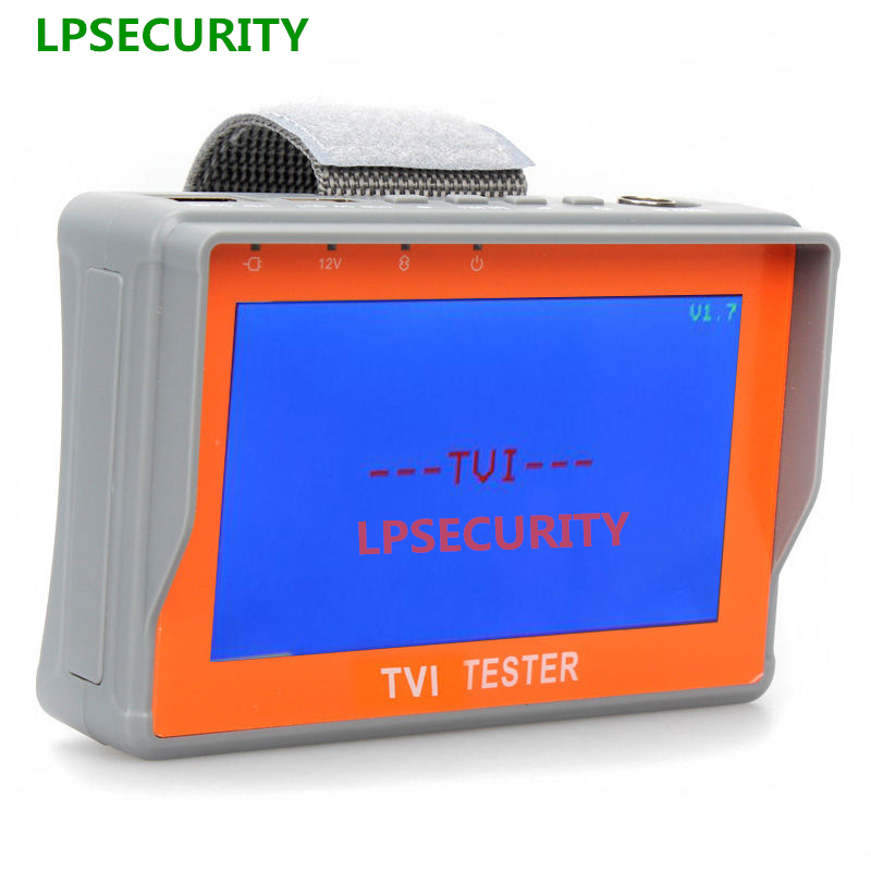 LPSECURITY Portable 4.3 LCD Monitor TVI CCTV Camera Tester Security Surveillance HD-TVI Camera Tester Analog TVI Tester Video