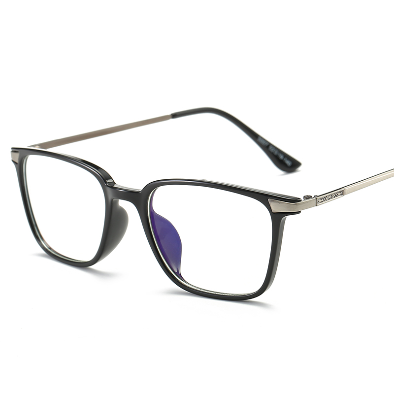 Cuadrado gafas miopía gafas de marco negro TR90 titanio gafas de la ...