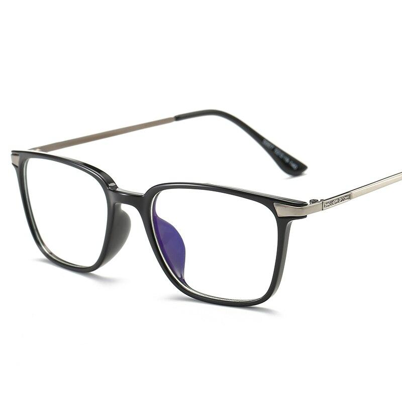 Kvadrātveida brilles tuvredzības brilles rāmis melns TR90 titāna datoru brilles ar skaidru objektīvu optiskās aizsardzības brilles sievietēm vīriešiem
